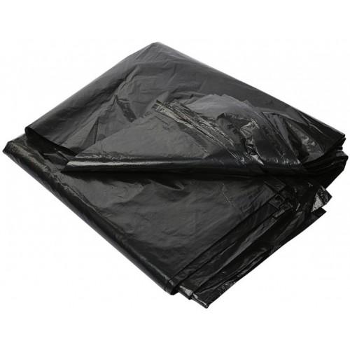 Мешки для мусора ПВД MirPack (МирПак) в пластах, черные, 70 мкм, 240 л, 90х125 см