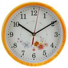 Часы настенные пластмассовые Весна фотопеч/циферблат мягкий ход, д23х1,5 см