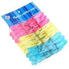 Прищепки пластмассовые 5,5 см цветные Капля, 18 шт