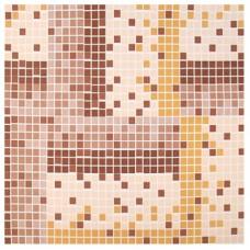 Дорожка для ванной Каталония коричневые тона сплошная, 0,65х15 м