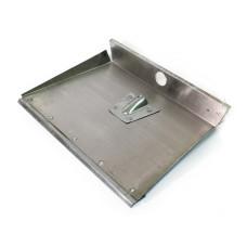 Лопата для снега алюминиевая 3-х бортная, без планки/черенка, 360х500 см