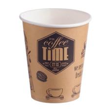 Стакан одноразовый бумажный для горячих напитков Cafetime, 250 мл, 50 шт