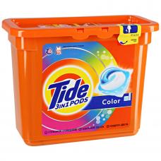 Гель для стирки в растворимых капсулах Tide автомат Color, 23х24,8 г