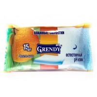 Влажные салфетки Grendy (Гренди) Апельсин, 15 шт