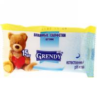Влажные салфетки Grendy (Гренди) детские, 15 шт