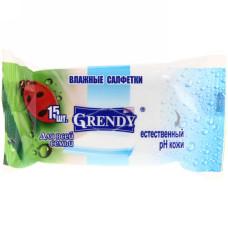Влажные салфетки Grendy (Гренди) для всей семьи, 15 шт