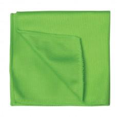Салфетка для стекол и зеркал Лайма, гладкая микрофибра, зеленая, 30х30 см