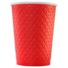 Стакан бумажный одноразовый двухслойный (EM80-280), 250 мл, (Red)