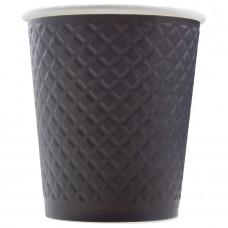Стакан бумажный одноразовый двухслойный (EM80-280), 250 мл, (Black)
