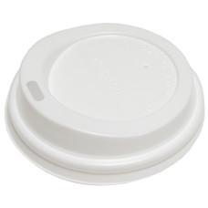 Крышка для стаканов (CH-62-P) d-62 мм, без клапана, (белая)