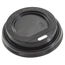 Крышка для стаканов (CH-80B-A) d-80 мм, без клапана, (черная)