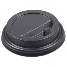 Крышка для стаканов (CH-80FB) d-80 мм, с клапаном, (черная)