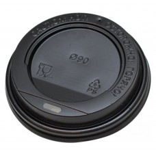 Крышка для стаканов (CH-90B) d-90 мм, без клапана, (черная)