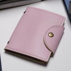 Визитница Одноцвет, 20 холдеров, цвет розовый, 8,5х1,5х10,5 см