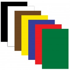 Картон цветной Пифагор А4 немелованный, в пакете, 200х283 мм, 7 листов, 7 цветов