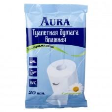 Бумага туалетная Aura (Аура) влажная, 20 шт