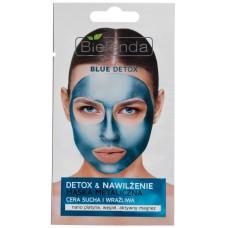 Очищающая металлическая маска Blue Detox для сухой и чувствительной кожи