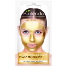 Очищающая металлическая маска Gold Detox для зрелой и чувствительной кожи