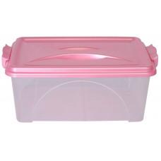 Контейнер пластмассовый для хранения продуктов прямоугольный с ручками, 35х23х21 см, 10 л