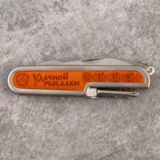 Нож ммногофункциональный Удачной рыбалки, 5 предметов, на подложке, 9х2 см