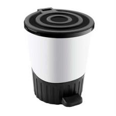 Ведро для мусора с педалью пластмассовое Сатурн, цвет белый, 26 л