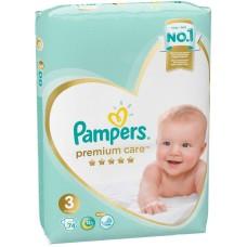 Подгузники Pampers (Памперс) Premium Care Midi 3 (6-10 кг), 74 шт