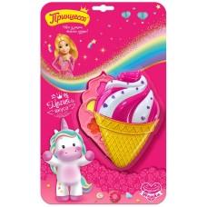 Набор детский Принцесса Магия вкуса (тени для век 3 шт, блеск для губ 3 шт, спонж 1 шт)