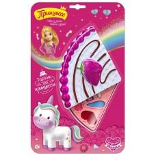 Набор детский Принцесса Тортик для принцессы (тени для век 3 шт, блеск для губ 4 шт, спонж 1 шт, губная помада 1 шт)