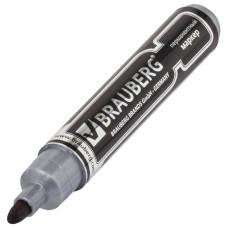 Маркер перманентный (нестираемый) Brauberg Neo (Брауберг Нео), цвет черный, утолщённый круглый наконечник, 5 мм