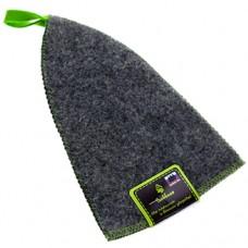 Шапка для сауны войлочная, цвет серый, Б40-1, h24 см