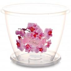 Горшок пластмассовый для цветов, Флора с/под Орхидея, d=19 см, h=15 см, 3063 М, 2 л