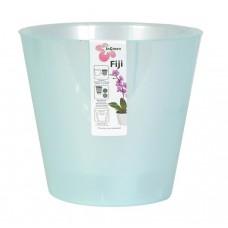 Горшок пластмассовый для цветов/орхидеи, со/вставк Ingreen Fiji Орхид, цвет голуб/перл, d=16 см, h=14 см, ING1558, 1,6 л
