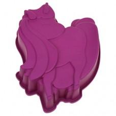 Форма силиконовая для выпекания Единорог, цвета микс, h5,5 см, 19х24 см