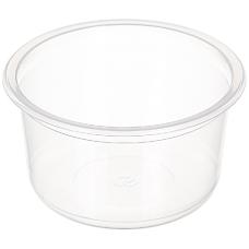 Контейнер суповый пластиковый одноразовый К-115, прозрачный, 500 мл