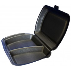 Ланч-бокс 2 секции, черный, 247х207,5х62 мм