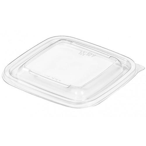 Крышка пластиковая одноразовая, прозрачная, 126х126х5 мм