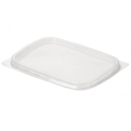 Крышка пластиковая одноразовая к контейнеру, 108х82 мм