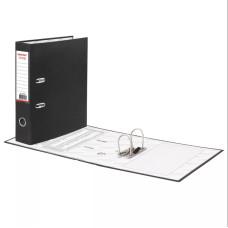 Папка-регистратор Офисмаг с арочным механизмом, покрытие из ПВХ, цвет черный, 75 мм