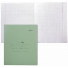 Тетрадь в клетку Архбум, зеленая, обложка, офсет, 12 листов