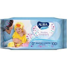 Детские влажные салфетки Aura (Аура) Ultra Comfort, без крышки, 100 шт