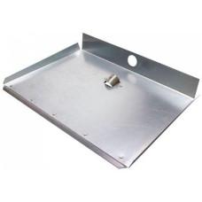 Лопата для снега алюминиевая 3-х бортная, с планкой, 360х350 см