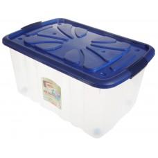 Ящик хозяйственный пластиковый для хранения, на колесах, 60х40х30 см, 45,0 л