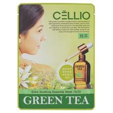 Тканевая маска Cellio (Селио) с экстрактом Зеленого чая