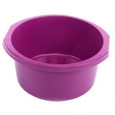 Таз круглый пластмассовый с ручками Эконом, цвет розовый, 12 л