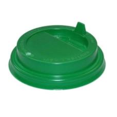 Крышка для стаканов KRZ180 d=80 мм, зеленая, с откидным питейником