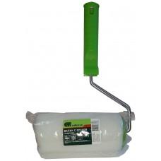 Валик малярный поролон, для латексных и ВД красок, грунтовок, пропиток, с ручкой Сибртех, 150 мм, D=48 мм