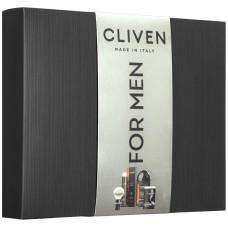 Набор Cliven №5 Пена-гель для душа Classico, 250 мл + Крем для бритья, 100 мл + Помазок для бритья (натуральная щетина) + Полотенце прессованное, 100% хлопок 35х60 см, 450 гр/м2
