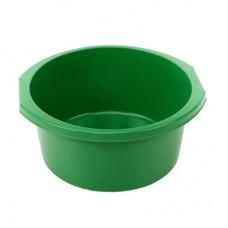 Таз круглый пластмассовый с ручками Эконом, цвет зеленый, 10 л