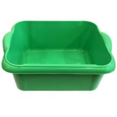 Таз пищевой прямоугольный с ручками Чудо, цвет зеленый, 10 л