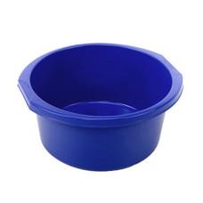 Таз круглый пластмассовый с ручками Эконом, цвет синий, 10 л